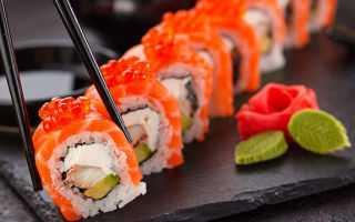 Употребление суши при гастрите