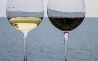 Красное и белое вино при гастрите