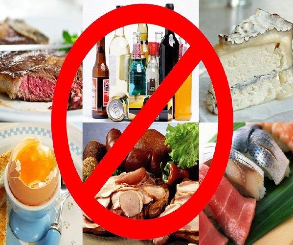 Отказ от алкоголя и вредной еды при обострении гастрита