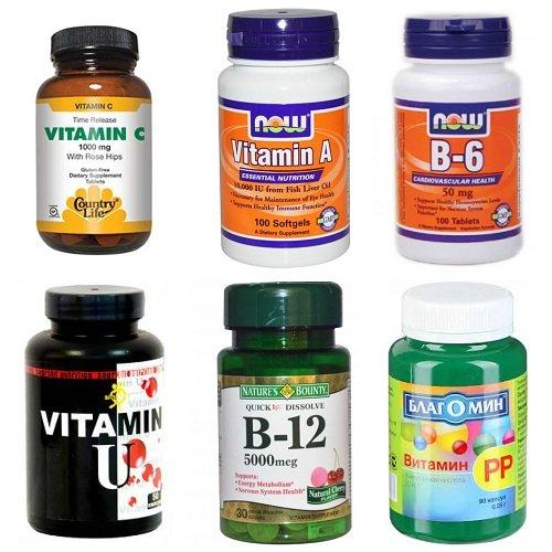 Витамины при гастритах