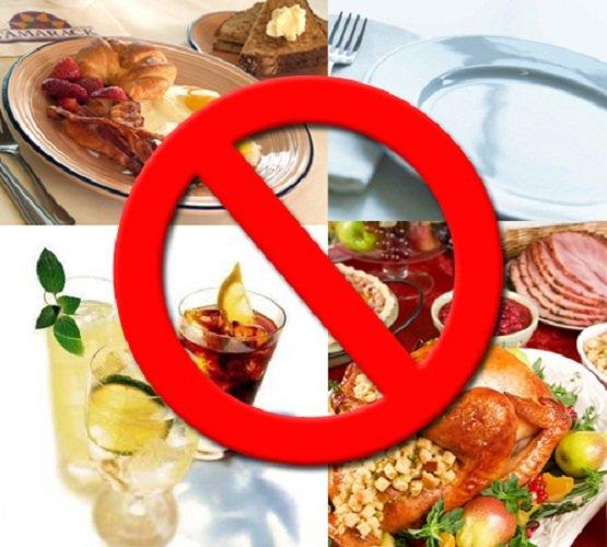 Запрещенные к употреблению продукты при гастрите