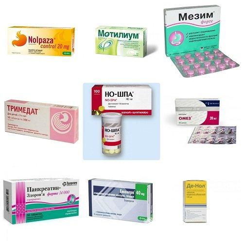 Часто используемые препараты для лечения гастрита
