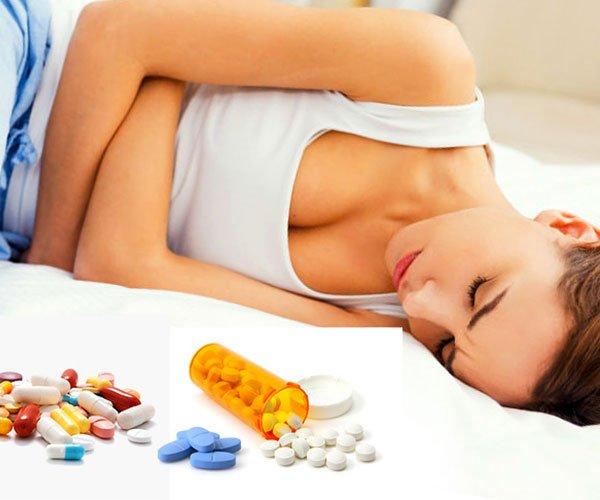 Боль в желудке из-за употребления сильных лекарств