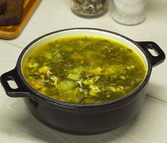 Овощной суп со щавелем