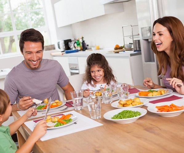 Прием пищи в благоприятной обстановке