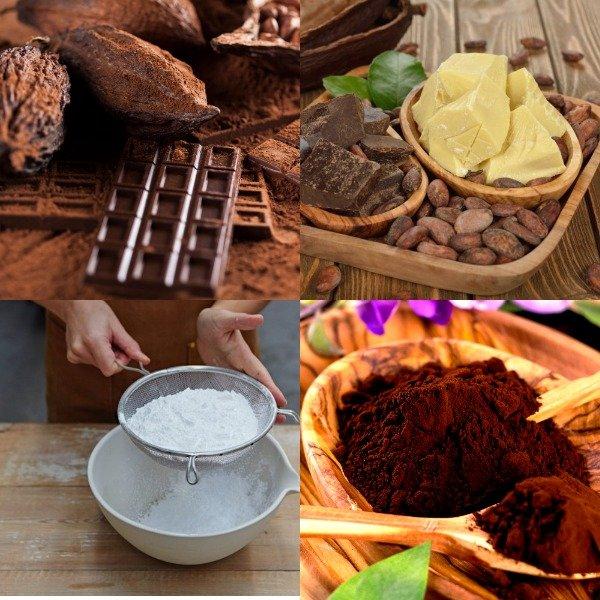 Продукты в составе шоколада