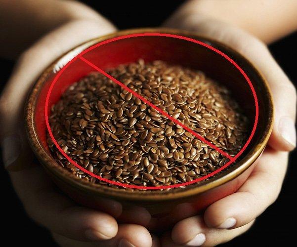Противопоказания к употреблению льна