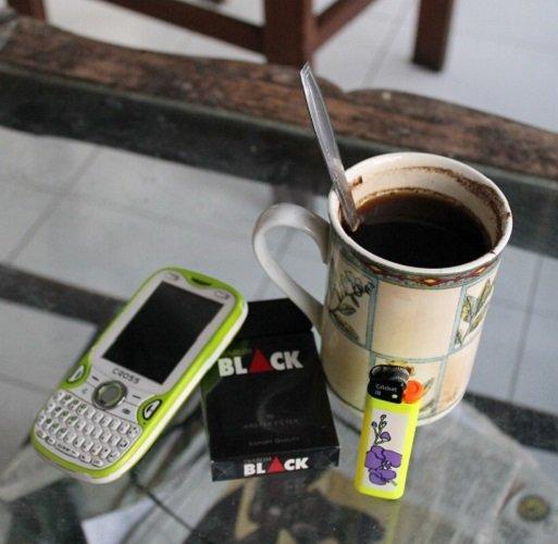 Не пить кофе после курения