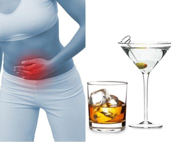 Развитие алкогольного гастрита