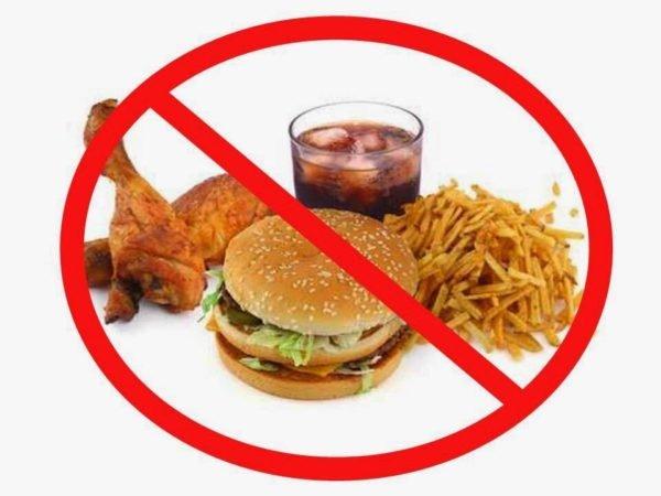 Основная профилактика - это отказ от вредной пищи